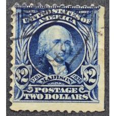 1902 США Джеймс Мэдисон 2 доллара