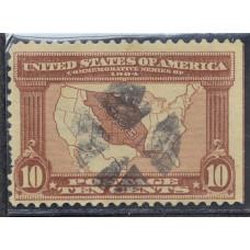 1904 Апрель США Карта Луизианской Сделки 10 центов