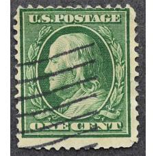 1908 США Бенджамин Франклин 1 цент