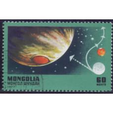 1977, март. Почтовая марка Монголии. 250 лет со дня смерти Исаака Ньютона. 60 монго