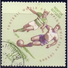 1966, май. Почтовая марка Монголии. Чемпионат мира по футболу - Англия. 30 монго