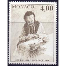 1989 Сентябрь Монако 150 лет со Дня Рождения Philibert Florence 4.00 франков
