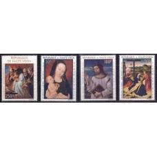 1967, июль. Набор почтовых марок Верхняя Вольта. Религиозные картины. Авиапочта