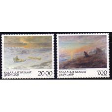 1999 Май Гренландия Древние Картины Питера Розинга