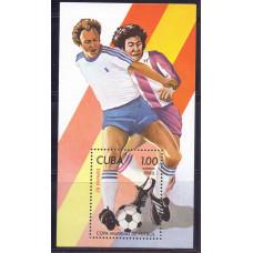 1982 Январь Куба Чемпионат Мира по Футболу в Испании 1.00 песо
