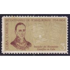 1964 Декабрь Куба 200 лет со Дня Рождения Доктора Томаса Ромейна 3 сентаво