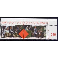1991 Март Нидерланды Серебряная свадьба 75 центов