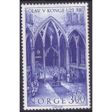 1982 Сентябрь Норвегия 25 лет Правления Короля Улава V 3.00 кроны