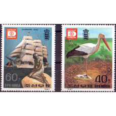 1987. Набор марок Кореи (КНДР). HAFNIA '87, Copenhagenа.