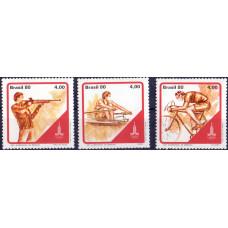 1980. Набор марок Бразилии. Olympic Games 80 - Олимпийские Игры 80.