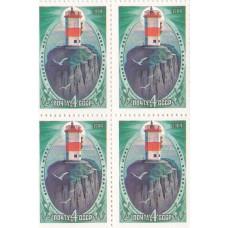 Квартблок СССР. Японское море, маяк Басаргин. 4 копейки. 1984