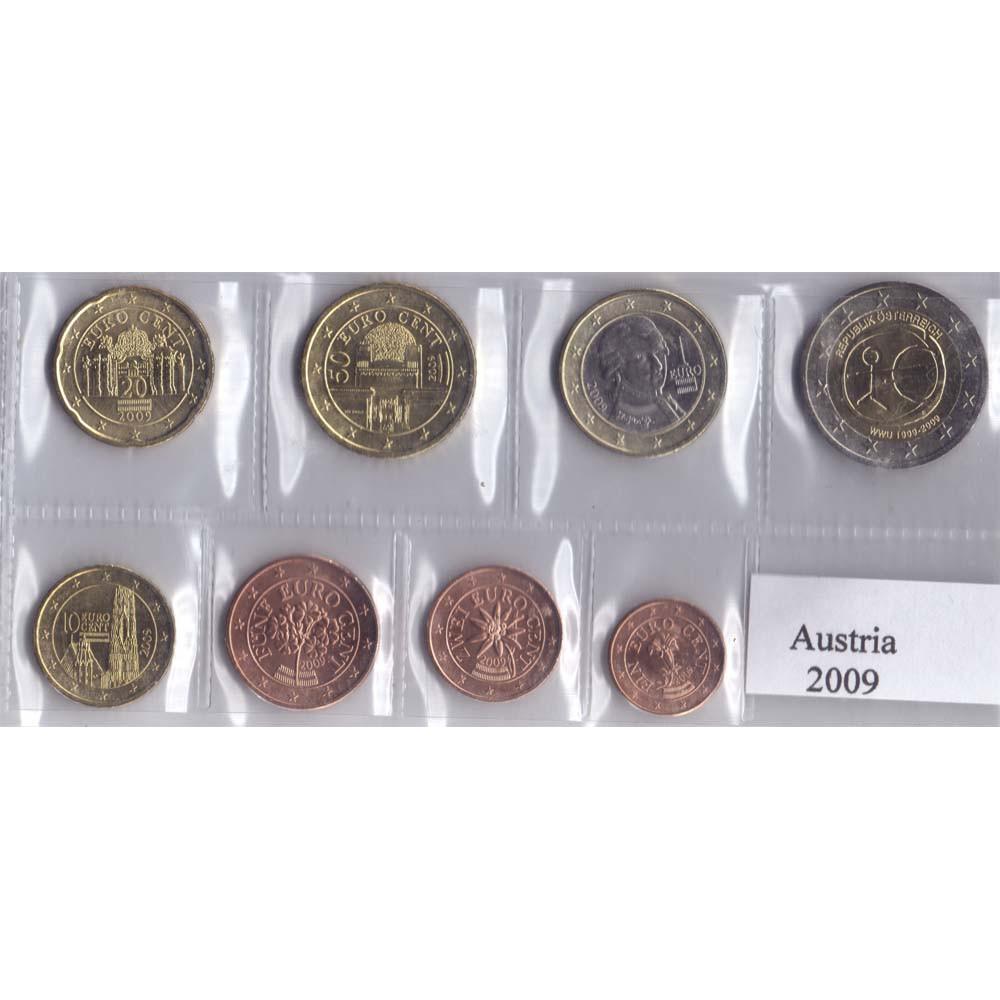 Набор монет евро Австрия 2009