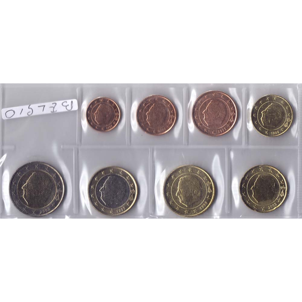 Набор монет евро Бельгия
