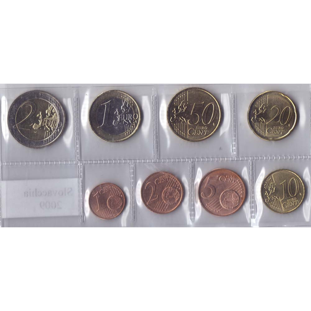 Набор монет евро Словакия 2009