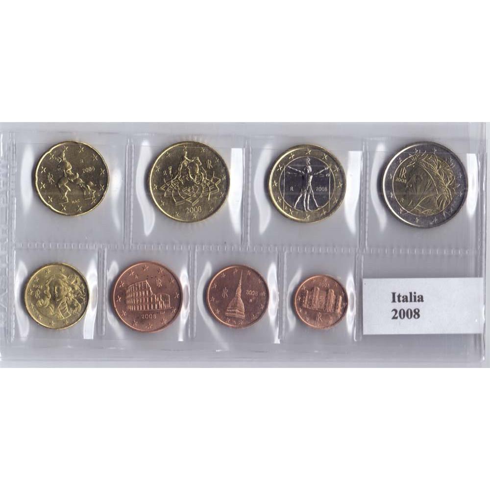 Набор монет евро Италия 2008