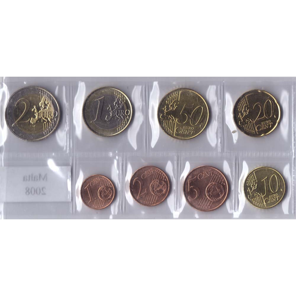 Набор монет евро Мальта 2008