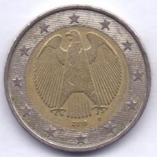 2 евро 2010 года Германия - 2 euro 2010 Germany, D, из оборота