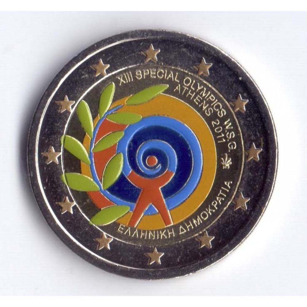 2 евро 2011 Греция Специальные Летние Всемирные Олимпийские Игры 2011 в Афинах
