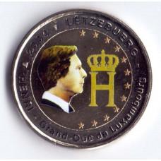 2 евро 2004 Люксембург Портрет и монограмма герцога Люксембурга Анри Нассау