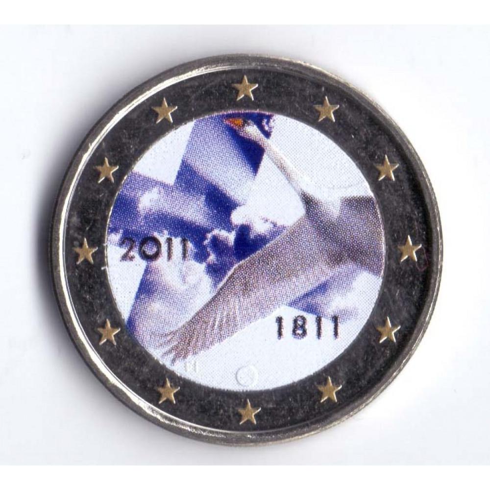 2 евро 2011 Финляндия 200 лет Банку Финляндии