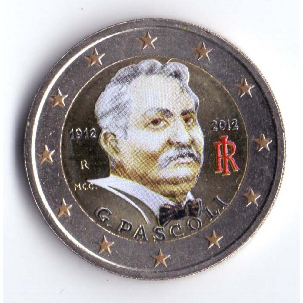 2 евро 2012 Италия 100 лет со дня смерти Джованни Пасколи