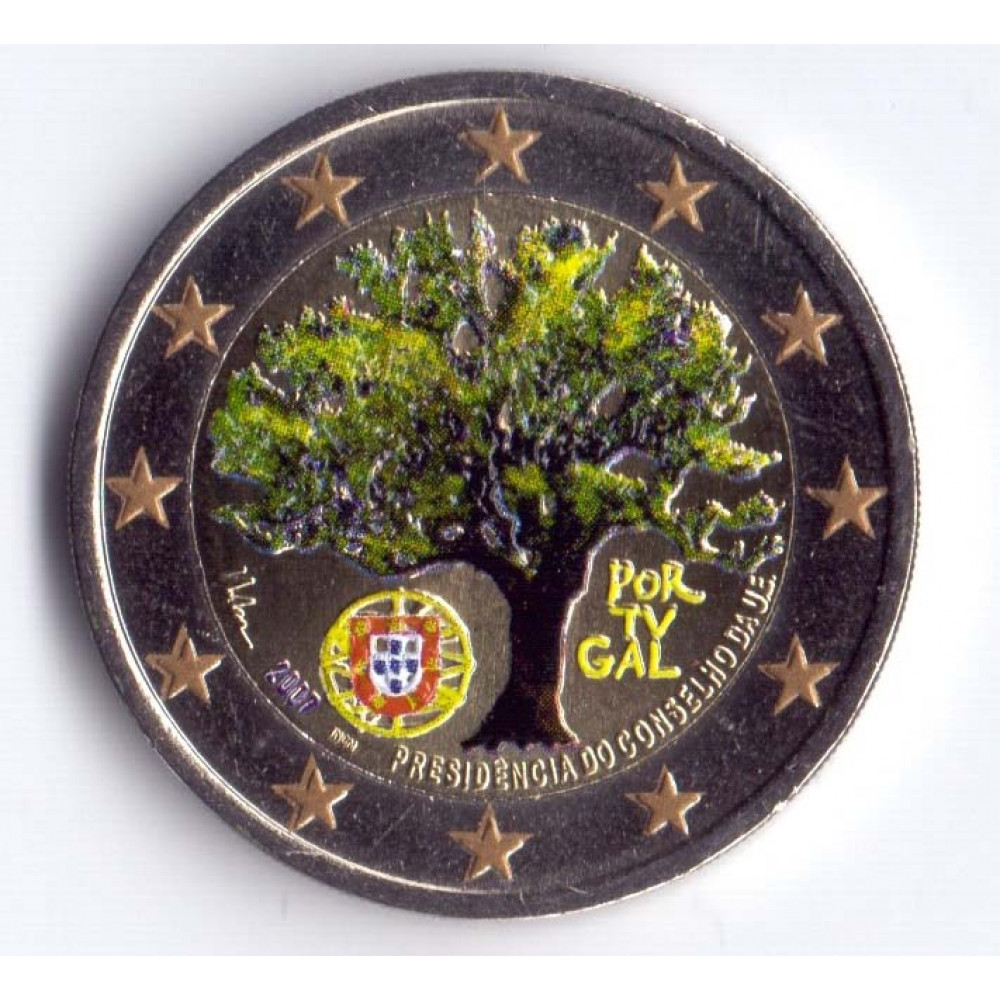 2 евро 2007 Португалия Председательство Португалии в Евросоюзе
