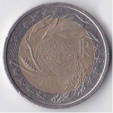 2 евро 2004 Италия 50 лет Всемирной Продовольственной программы