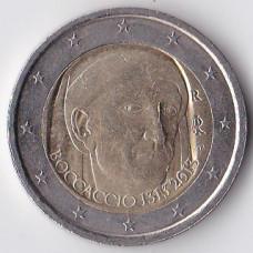 2 евро 2013 Италия 700 лет со дня рождения Джованни Боккаччо