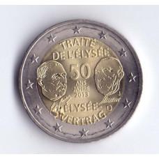 2 евро 2013 Германия 50 лет подписания Елисейского договора