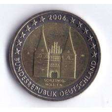 2 евро 2006 Германия Федеральные земли Германии — Шлезвиг-Гольштейн