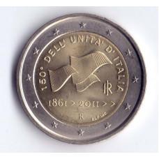 2 евро 2011 Италия 150 лет Рисорджименто