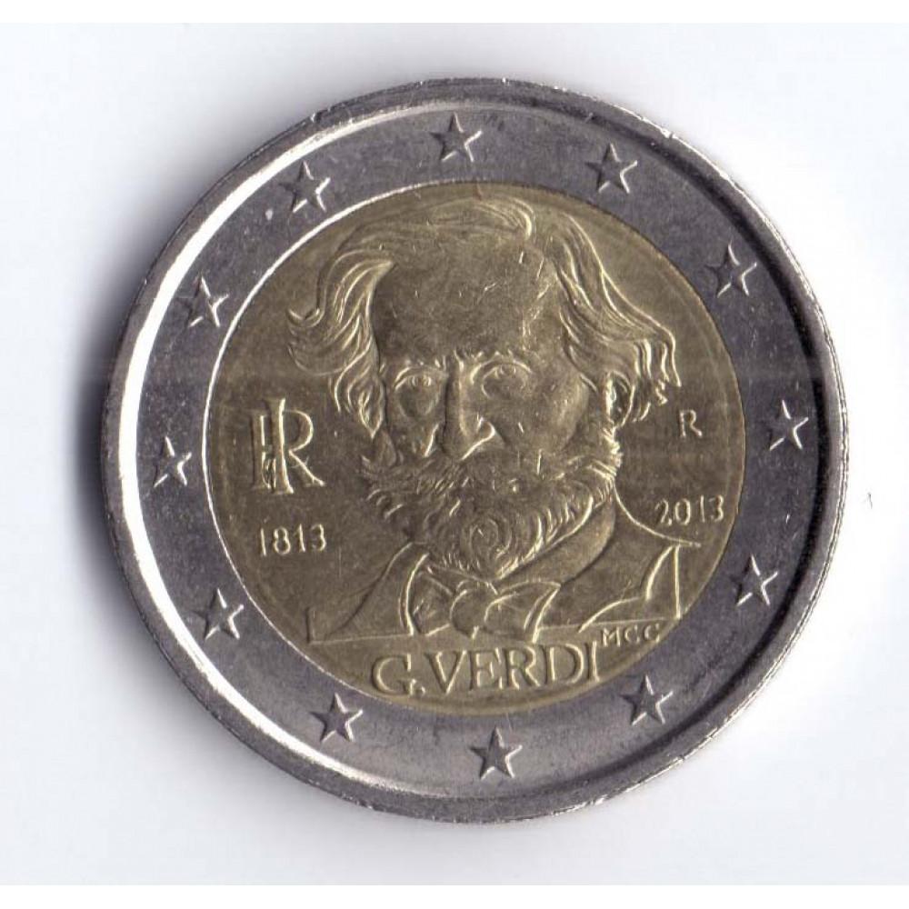 2 евро 2013 Италия 200 лет со дня рождения Джузеппе Верди