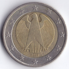 2 евро 2002 Германия - 2 euro 2002 Germany, J, из оборота