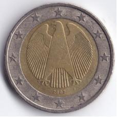 2 евро 2002 года Германия - 2 euro 2002 Germany, F, из оборота