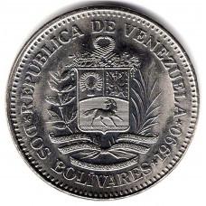 2 боливара 1990 Венесуэла - 2 bolivars 1990 Venezuela, из оборота