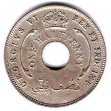 1/2 пенни 1942 Британская Западная Африка - 1/2 penny 1942 British West Africa, из оборота