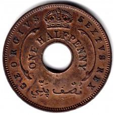 1/2 пенни 1952 Британская Западная Африка - 1/2 penny 1952 British West Africa, из оборота