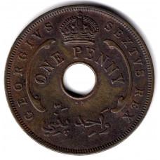 1 пенни 1952 Британская Западная Африка - 1 penny 1952 British West Africa, из оборота