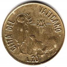 20 лир 1984 Ватикан - 20 lira 1984 Vatican, из оборота