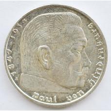 2 рейхсмарки 1939 Германия - 2 reichsmarks 1939 Germany, А, из оборота