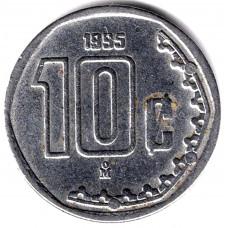 10 сентаво 1995 Мексика - 10 centavo 1995 Mexico, из оборота