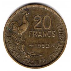 20 франков 1952 Франция - 20 francs 1952 France, из оборота
