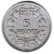 5 франков 1947 Франция - 5 francs 1947 France, из оборота