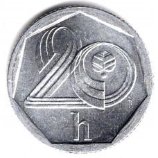20 геллеров 1993 Чехия - 20 hellers 1993 Czech Republic, из оборота