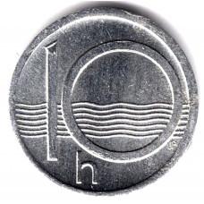 10 геллеров 1993 Чехия - 10 hellers 1993 Czech Republic, из оборота
