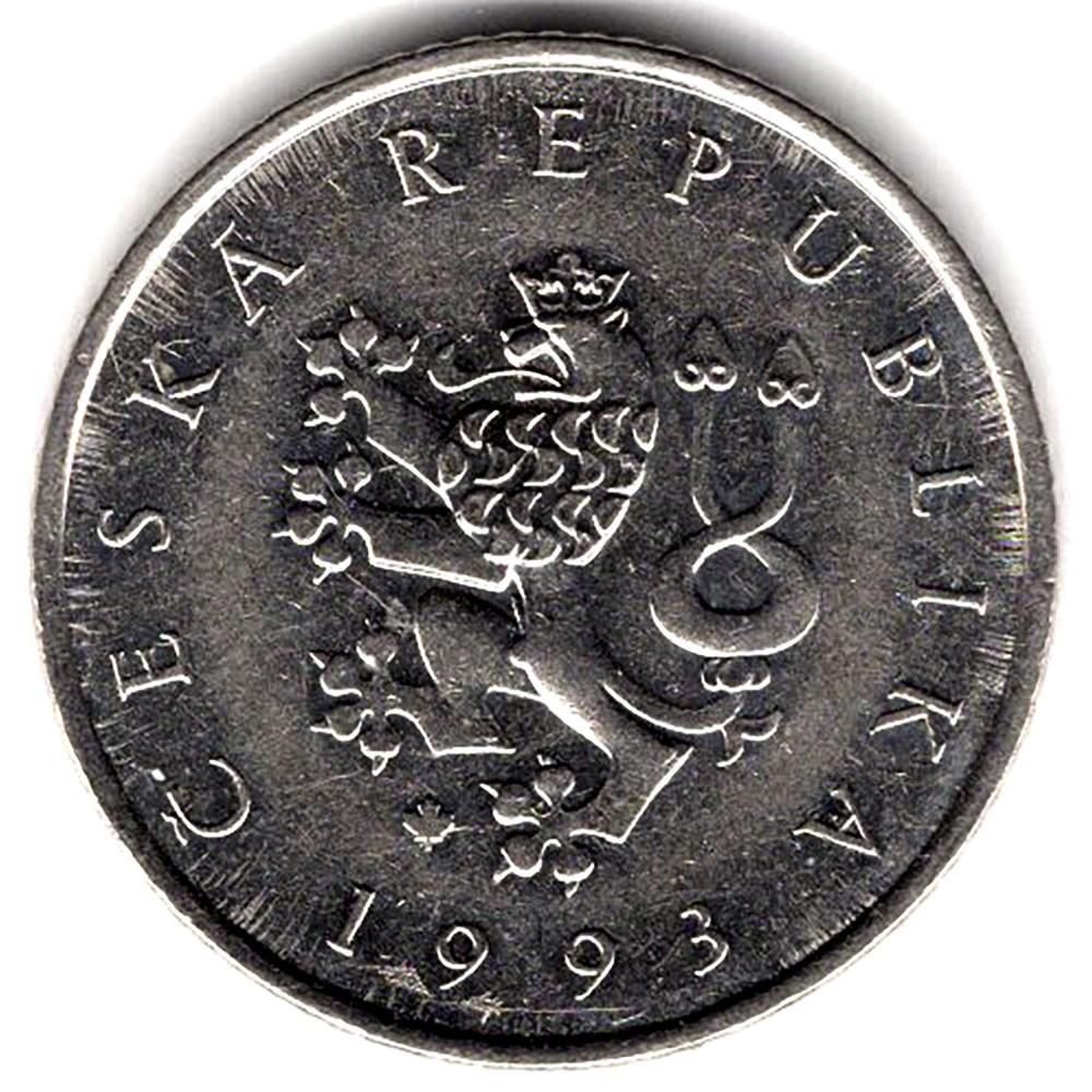 1 крона 1993 Чехия - 1 krone 1993 Czech Republic, из оборота