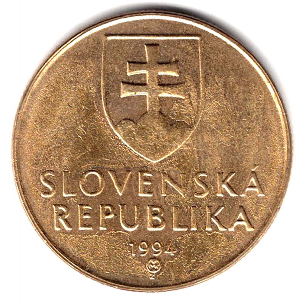 1 крона 1994 Словакия - 1 krone 1994 Slovakia, из оборота