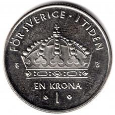 1 крона 2001 Швеция - 1 krona 2001 Sweden, из оборота