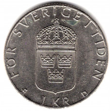 1 крона 1989 Швеция - 1 krona 1989 Sweden, из оборота