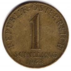 1 шиллинг 1963 Австрия - 1 schilling 1963 Austria, из оборота